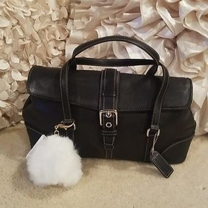 Vintage coach Hamptons satchel black